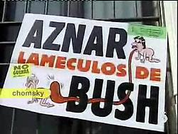 Aznar, Bush's buttlicker