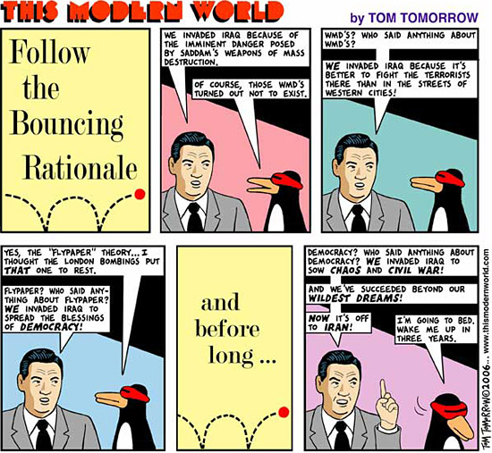 Follow the Bouncing Rationale!