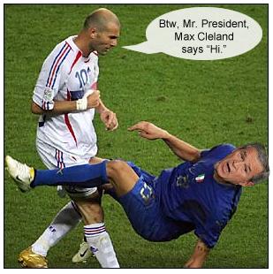 Zizou butts Bush