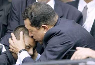 Chavecito kisses a boy in Brazil