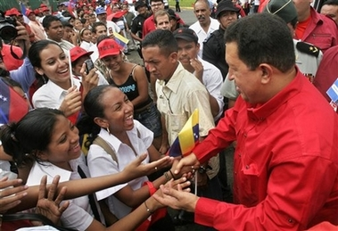 Chavecito with well-wishers in Nicaragua