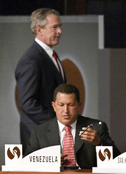 Hugo Chavez scares the shit out of Bush