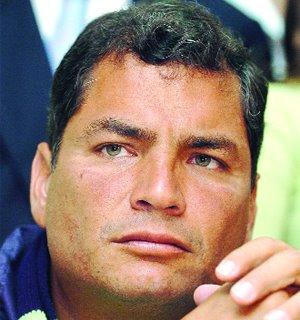 A gorgeous shot of Rafael Correa