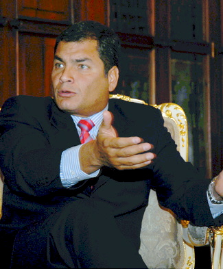 Yowza, what a great shot of Rafael Correa!