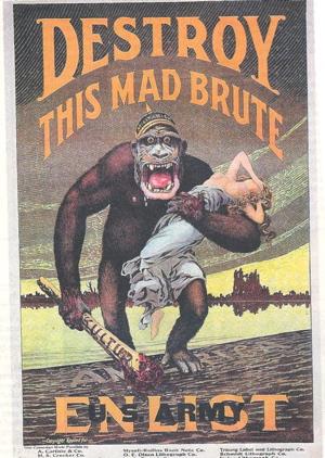 Anti-German propaganda poster