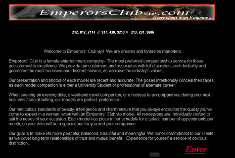 The Emperor's Club is naked...