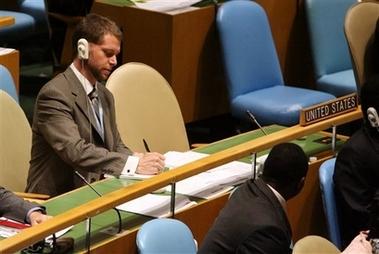 A suspiciously empty seat at the UN