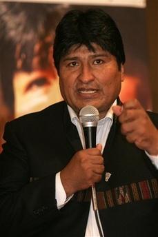 Evo Morales in Managua