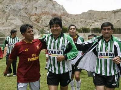 Evo in soccer shorts