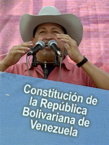Hugo Chavez, cowboy good guy