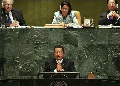 Hugo Chavez praying for deliverance from Mr. Danger