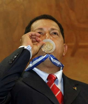 Hugo Chavez, medalist!