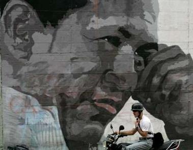 Hugo Mural close-up