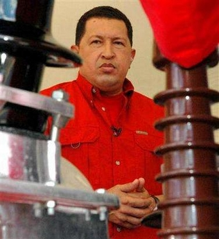 Hugo Chavez, lord of the laboratory!
