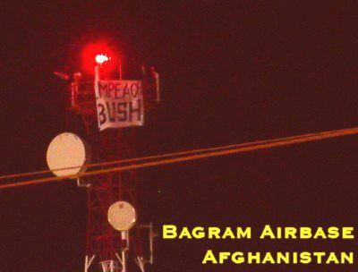Impeach the President, seen at Bagram