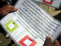 A pre-marked ballot in the illegal, fraudulent Santa Cruz referendum