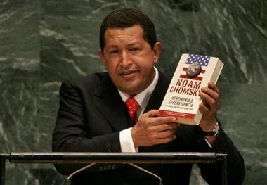 Hugo Chavez recommends Noam Chomsky