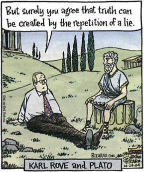 Karl Rove mit Plato