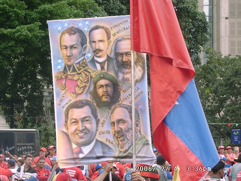 Can you spot Huguito Chavecito on this banner?