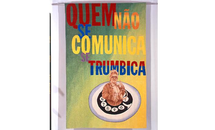 Chacrinha poster from Tropicalia exhibit